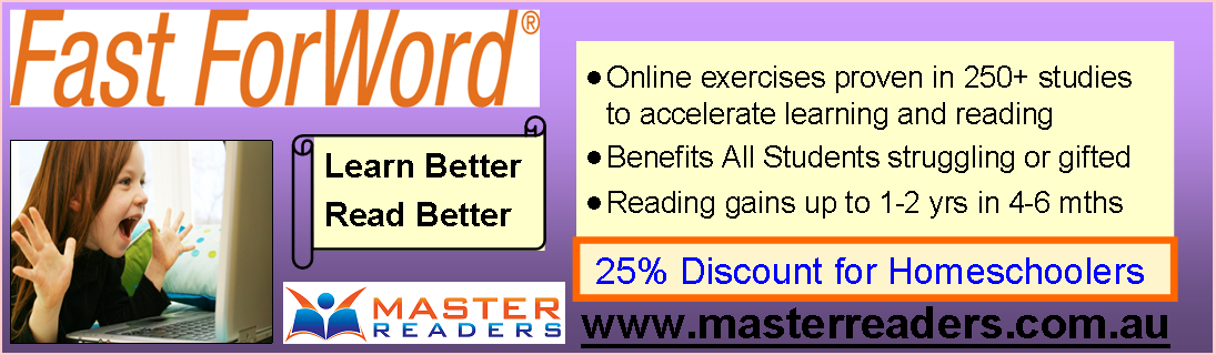 Advert for Master Readers.com.au
