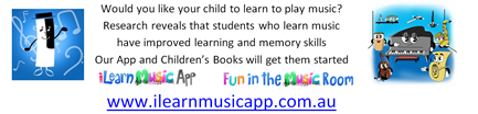 Help your child to learn how to play music with our app and children's books to them started - I Learning Music and Fun in the Music Room